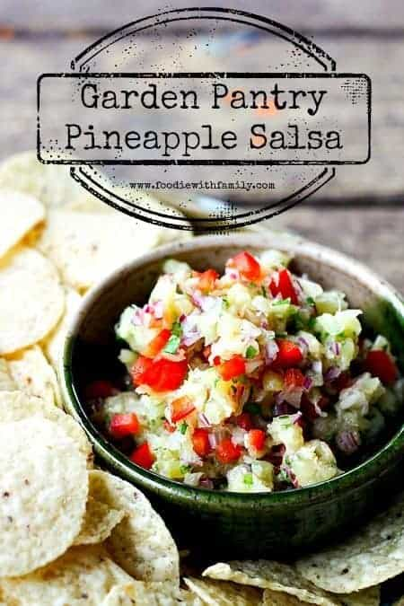 Garden Pantry Pineapple Salsa {5 minute recipe}