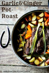 Garlic and Ginger Pot Roast www.foodiewithfamily.com