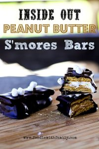 Inside Out Peanut Butter Smores Bars   www.foodiewithfamily.com