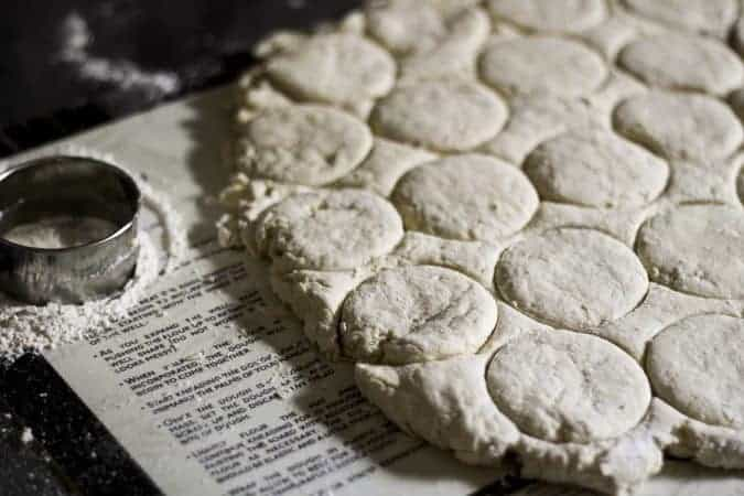 Buttermilk Biscuits ready to be baked or frozen at www.foodiewithfamily.com