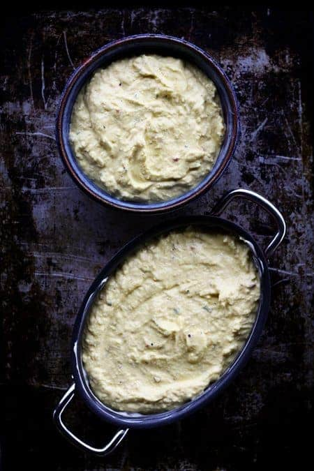 Baked Ricotta Cheese mixture ready to bake at www.foodiewithfamily.com