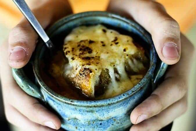 French Onion Soup from Slow Cooker Caramelized Onions at www.foodiewithfamily.com