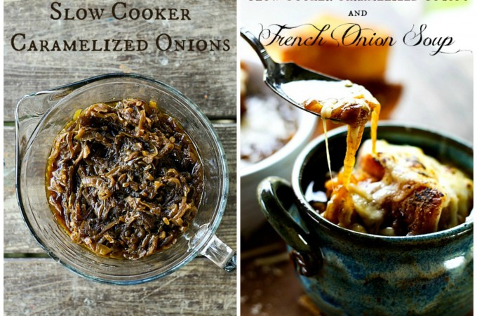 Slow-Cooker Caramelized Onions & French Onion Soup | Make Ahead Mondays