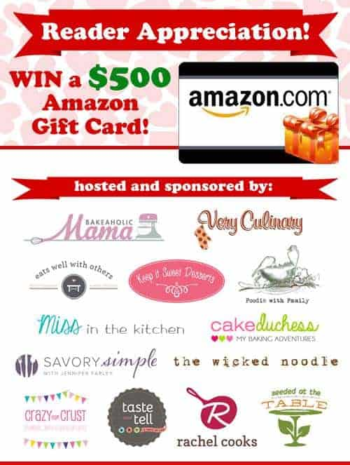 $500 Amazon Gift Card Giveaway on www.foodiewithfamily.com