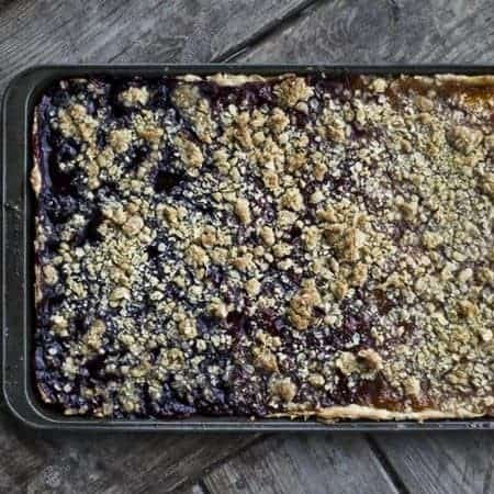 Triple Fruit Slab Pie for #pieweek at www.foodiewithfamily.com