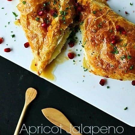 Apricot Jalapeño Baked Brie