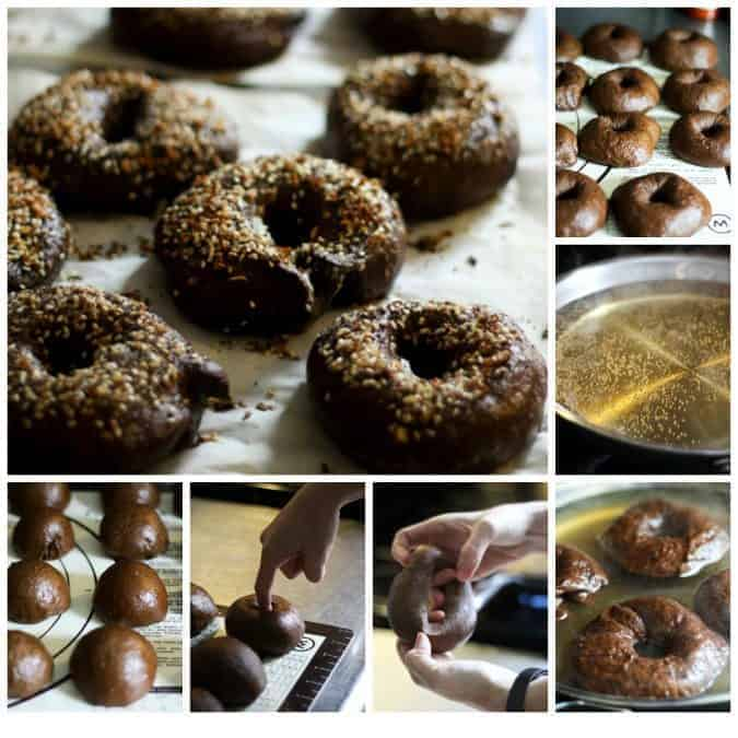 Black Russian Bagels on www.foodiewithfamily.com a.k.a. Pumpernickel Everything Bagels