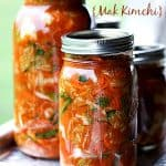 Easy, Fast Kimchi Recipe {Mak Kimchi} at www.foodiewithfamily.com