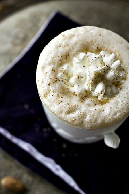 Eggnog Chai Latte for #MakeAheadMondays on www.foodiewithfamily.com