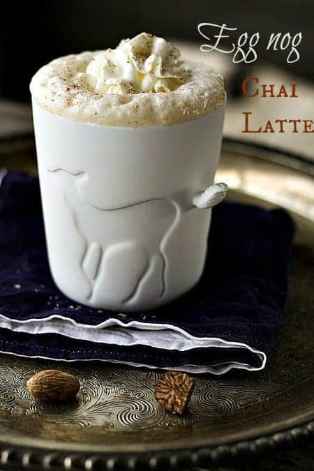 Eggnog Chai Latte at www.foodiewithfamily.com for #MakeAheadMondays
