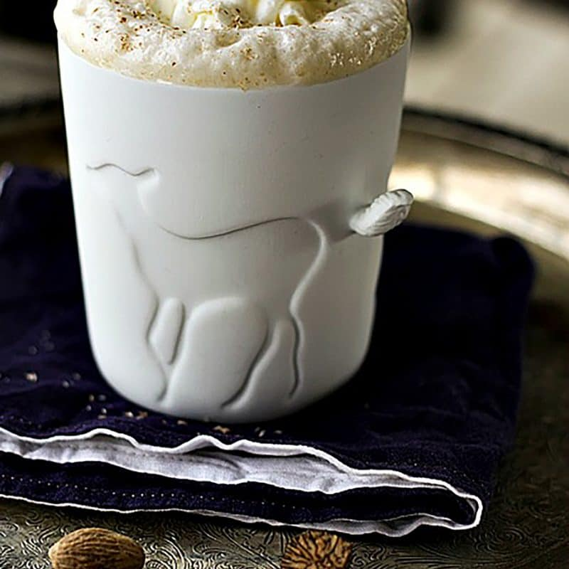 Starbucks like Creamy frothy Eggnog Chai Latte from foodiewithfamily.com