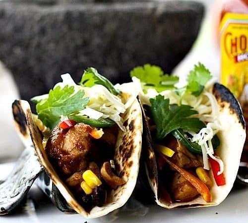 Slow Cooker Barbecue Chicken Tacos