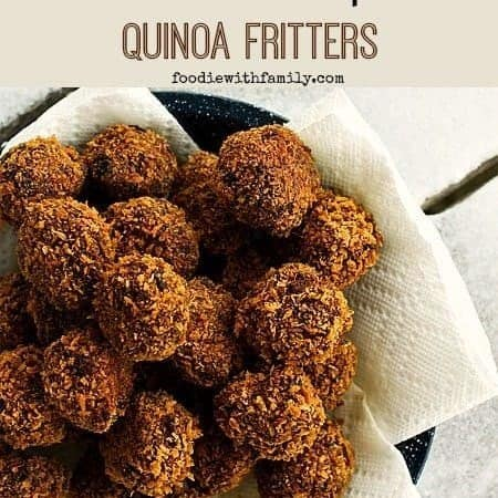 Cheesy Black Bean Chipotle Quinoa Fritters
