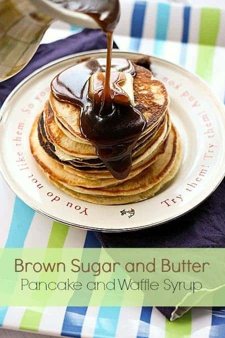 Brown sugar butter pancake and waffle syrup brown sugar and butter pancake and waffle syrup foodiewithfamily ccuart Image collections