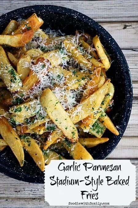 Garlic Parmesan Stadium-Style Steak Fries #Superbowlsnacks #Gameday #Biggamesnacks #BigGame #Comfortfood