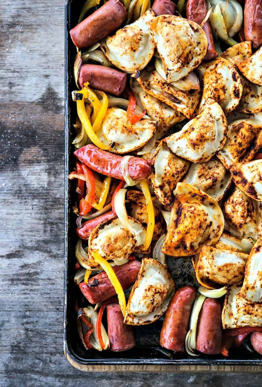Admirable Kielbasa And Pierogies Sheet Pan Meal Download Free Architecture Designs Grimeyleaguecom