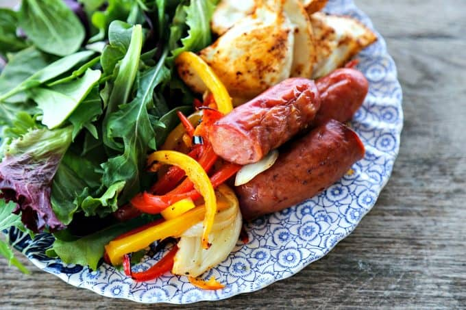 Fantastic Kielbasa And Pierogies Sheet Pan Meal One Pan Dinner Download Free Architecture Designs Grimeyleaguecom