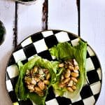 Fresh, light marinated white bean and tuna salad