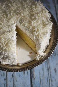 Coconut Lemon Cake at www.foodiewithfamily.com