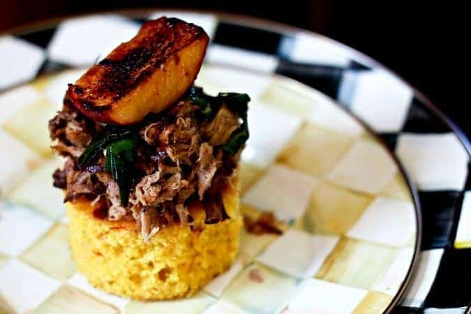 Pulled Pork Habanero Cornbread Stacks #ComfortFood #SuperBowl #GameDay #Entertaining #Recipes