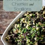 Brown and Wild Rice Pilaf with Dried Cherries #SideDish