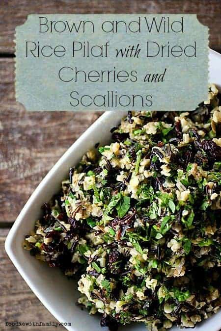 Brown and Wild Rice Pilaf with Dried Cherries and Scallions