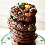 Flourless M&M Brownie Cookies #GlutenFree #Cookies