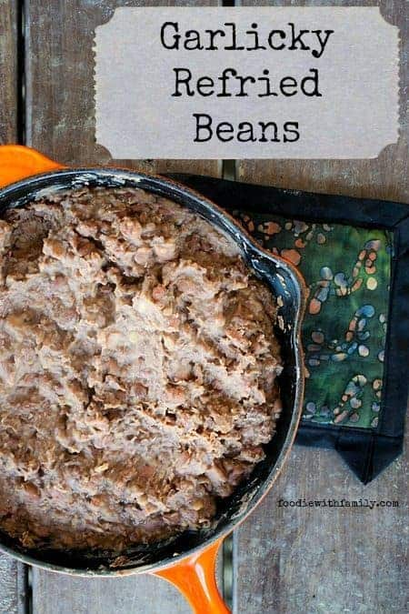Garlicky Refried Beans from scratch #HealthyFoods #Recipe
