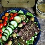 Greek Gyro Salad Plate like your favourite restaurant but at home. #restaurantDIY #mediterraneanfood