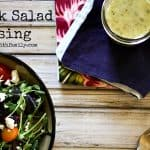 Greek Salad Dressing from foodiewithfamily.com #Lemon #Garlic #Oregano #OliveOil