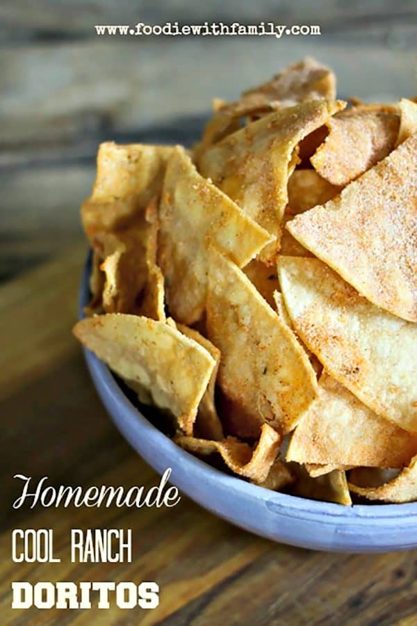 Easy peasy, better for you, and tasting just as great: Homemade Cool Ranch Doritos. Don't let food sensitivities keep you from the comfort food you love!