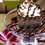 Irish Slammer Magic Chocolate Cake. The cake with the magically separating custard and cake layers flavoured with Guinness Stout, Bailey's Irish Cream, and Jameson Whiskey.