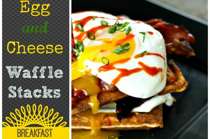 Mega Bacon, Egg, and Cheese Waffle Stacks