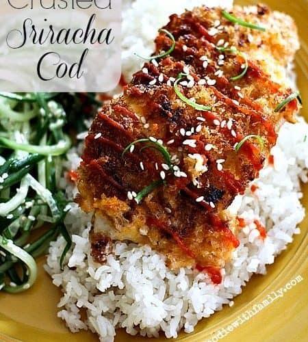 Panko Crusted Sriracha Cod Baked