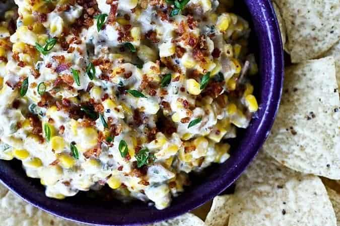 Slow Cooker Spicy Bacon and Corn Dip from foodiewithfamily.com #Slowcooker #Dip #snacks #sidedishes