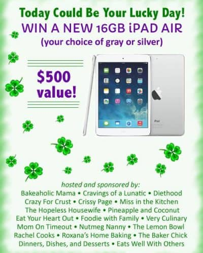 iPAD Air Giveaway www.foodiewithfamily.com