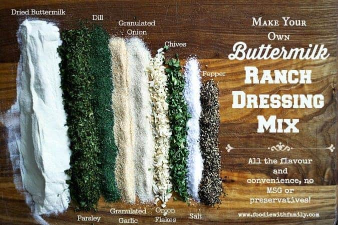 Homemade Buttermilk Ranch Dressing Mix