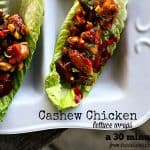 Cashew Chicken Lettuce Wraps. A healthy 30 Minute Meal from foodiewithfamily.com