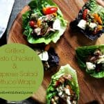 Grilled Pesto Chicken on Caprese Salad Lettuce Wraps {#30MinuteMeal}