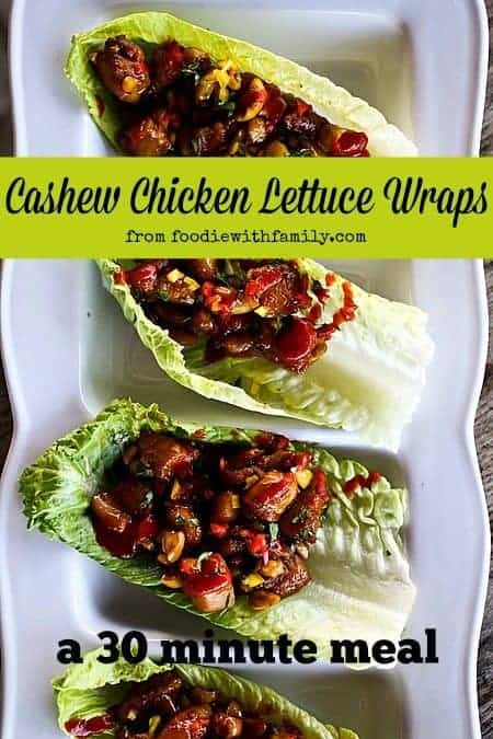 Cashew Chicken Lettuce Wraps. A 30 Minute Meal from foodiewithfamily.com