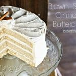 Brown Sugar Cinnamon Buttercream isn't your average frosting! Flecked with crunchy little crystals of brown sugar, it's reminiscent of Snickerdoodle Cookies! foodiewithfamily.com