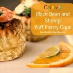 Carnival Black Bean and Shrimp Puff Pastry Cups from foodiewithfamily.com #WorldCup