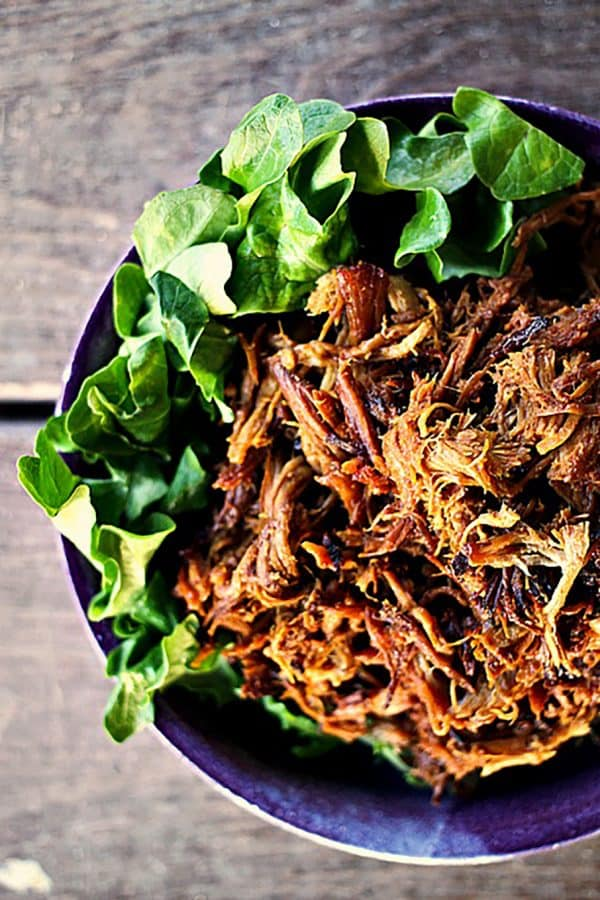 Slow-Cooker Honey Mustard Pulled Pork. Easy, spectacular food!