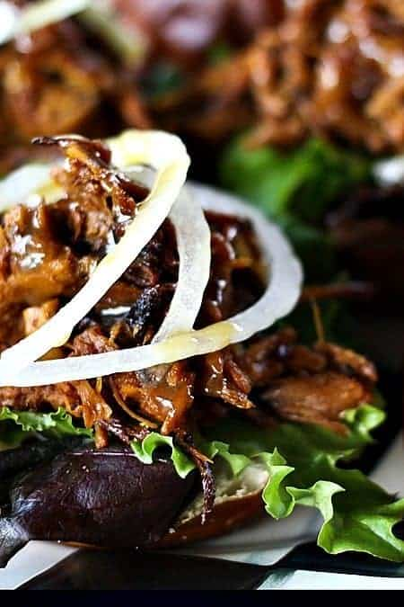 Honey Mustard Pulled Pork Sliders. Now that's a sandwich! foodiewithfamily.com