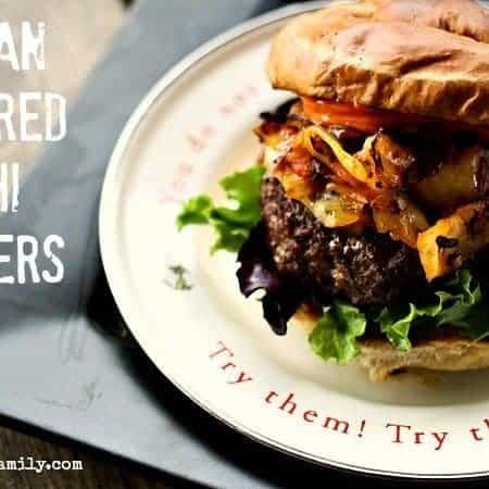Korean Inspired Kimchi Burger with Spicy Mayo