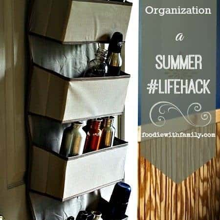 How to Organize your Re-usable Water Bottles. A summer #Lifehack from foodiewithfamily.com and JCP.com