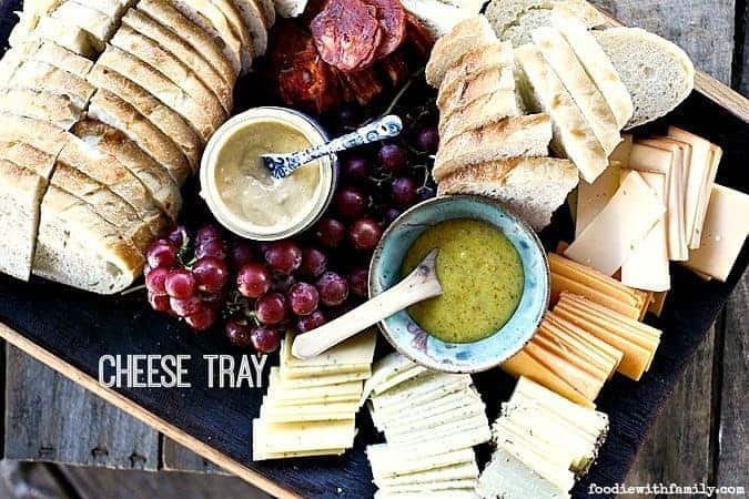 How to put together a Cheese Tray for appetizers or a light summer meal. foodiewithfamily.com