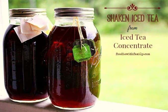 shaken iced tea {starbucks knockoff} + iced tea concentrate