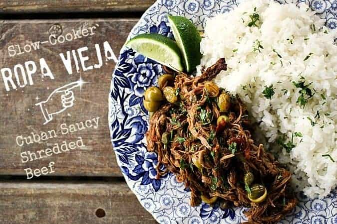 Slow-Cooker Ropa Vieja {Cuban Saucy Shredded Beef}