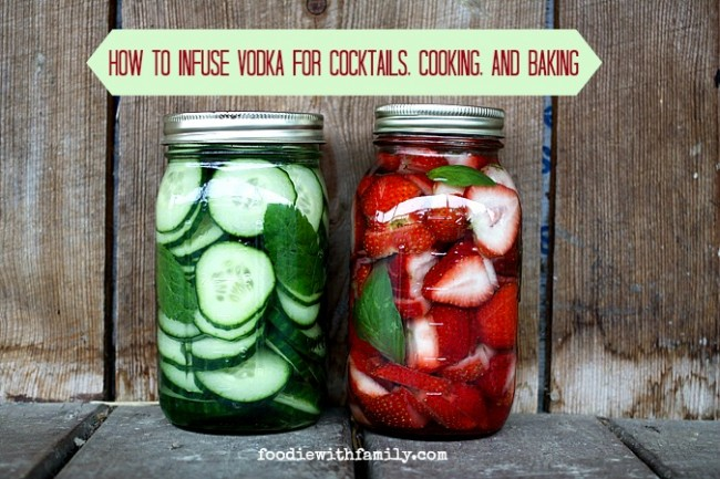 How to infuse vodka for cocktails, baking, and cooking.